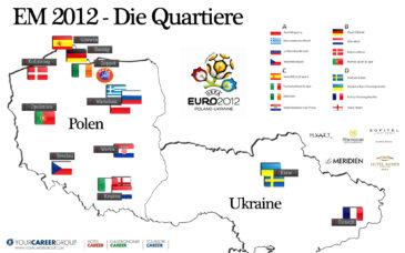 EM 2012 – Hier gastieren die Mannschaften