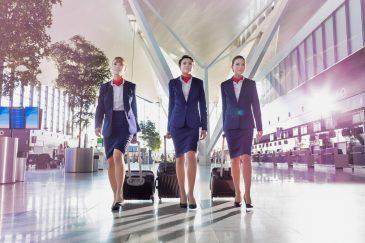 Stewardess – Arbeiten über Wolken