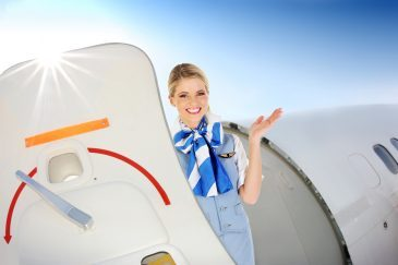 Die Stewardess im Profil -Welcome on board to our flight zur Wolke 7?!