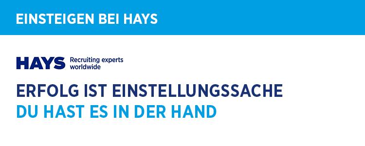 Stellenangebot Recruiter Active Sourcing In Mannheim Bei Hays Ag